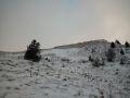 Plaque de neige sous le sommet