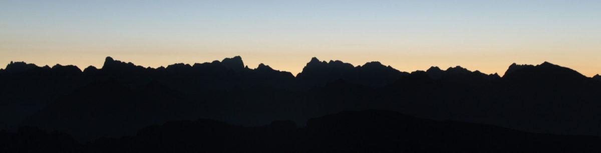 Vue vers l'ouest depuis le Plateau de Bure